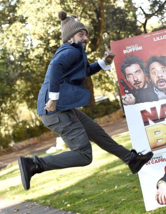 Italian actor/cast member Paolo Ruffini poses for photographs during the photo call for the movie 'Natale col Boss', in Rome, Italy, 15 December 2015. The movie will be released in Italian theaters on 16 December. ANSA/CLAUDIO ONORATI