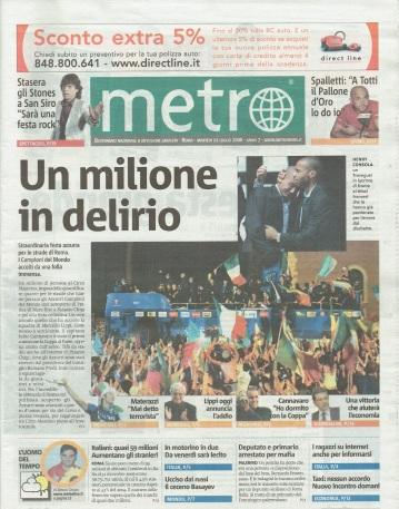 Metro Martedì 11 07 2006