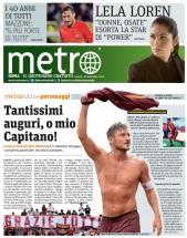 Metro Roma Focus Totti Venerdì 23 09 2016
