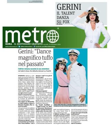 Metro Martedì 20 12 2016 - Intervista a Claudia Gerini