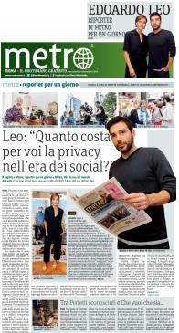 Metro Mercoledì 09 11 2016 - Focus Edoardo Leo