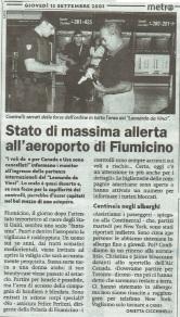 Metro Roma Giovedì 13 09 2001