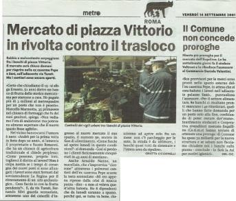 Metro Roma Venerdì 14 09 2001