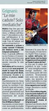 Metro Venerdì 11 11 2016 - Intervista a Gianluca Grignani