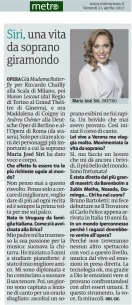 Metro Venerdì 21 04 2017 - Intervista a José Maria Siri