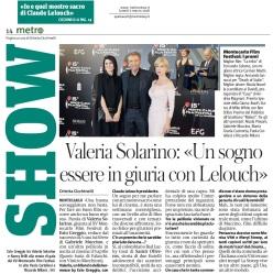 Metro Lunedì 05 03 2018 - Montecarlo Film Festival (Intervista a Valeria Solarino)