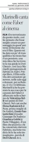 Metro Martedì 23 01 2018 - Fiction Luca Marinelli su Fabrizio De André