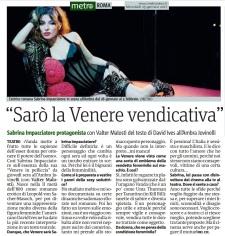 Metro Roma Mercoledì 25 01 2017 - Intervista a Sabrina Impacciatore