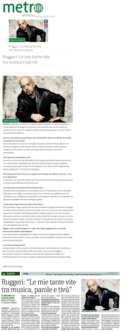 www.metronews.it Martedì 10 11 2015 - Metro Mercoledì 11 11 2015