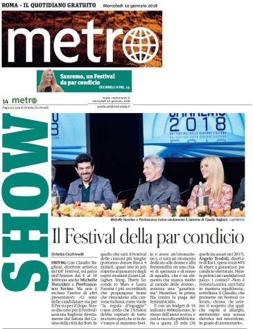 Metro Mercoledì 10 01 2018 - Conferenza stampa pre Sanremo 2018