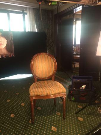 La sedia che attende il ciak