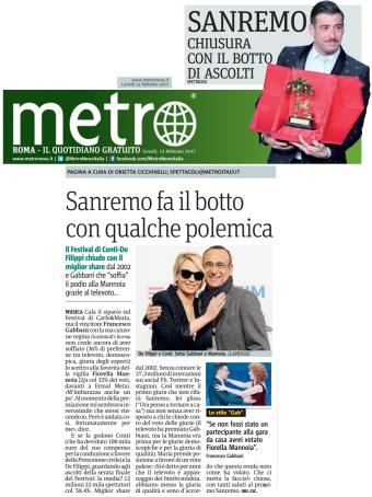 Metro Lunedì 13 02 2017 - Sanremo