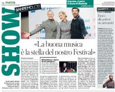 Metro Martedì 06 02 2018 - Sanremo 2018