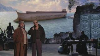 (FRAME DA VIDEO) Acclamato dal pubblico, preceduto da tuoni e lampi, Adriano Celentano entra in scena nel teatro Camploy di Verona, che ospita il debutto di Adrian, il nuovo show evento del Molleggiato, in onda in diretta su Canale 5, Verona 21 gennaio 2019. ANSA / CANALE 5