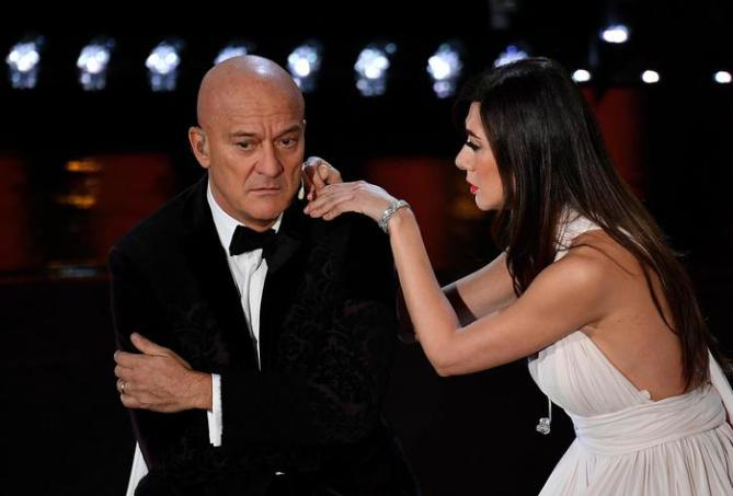 Claudio Bisio e Virginia Raffaele